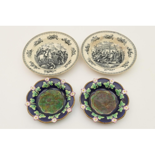 6 - Napoleonic Interest: Pair of William Smith & Co. (Leeds) printware dishes for the French market, fea...