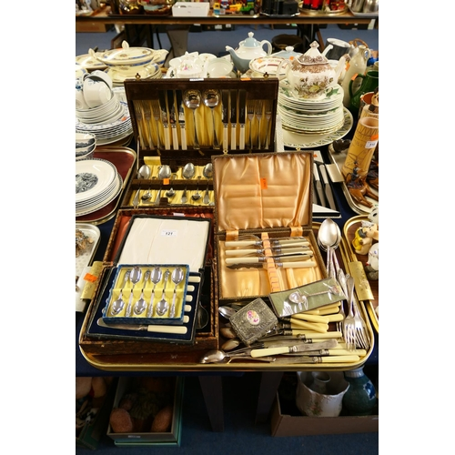 121 - Assorted boxed and loose cutlery...