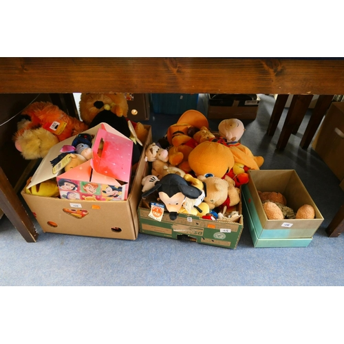125 - Assorted soft toys including Disney (2 boxes)...