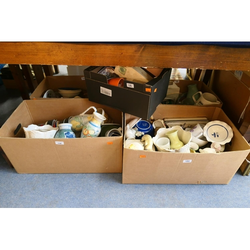 126 - Household ceramics and glassware (5 boxes)...