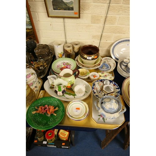 17 - Mixed ceramics including plates, jugs, coasters etc (2 trays)...