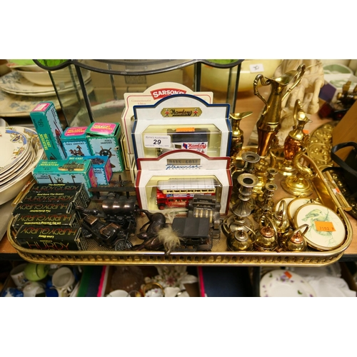 29 - Mixed die cast miniature ornaments and collectables (1 tray)...