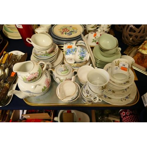 58 - Mixed china tea wares...