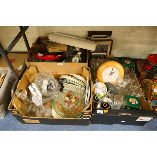 76 - Household ceramics, glassware and general miscellany (3 boxes)...