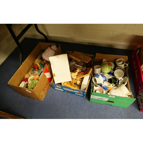 80 - Mixed dolls and juvenalia; also mixed ceramics (3 boxes)...