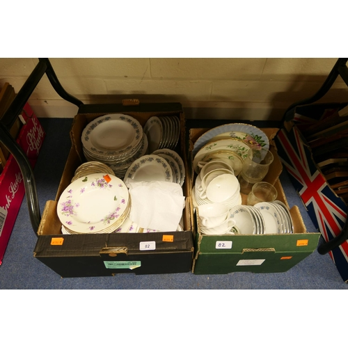 82 - Dinner and tea wares (2 boxes)...