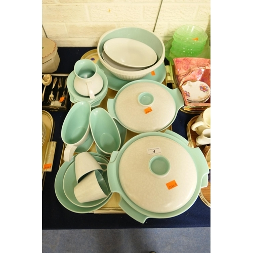 4 - Poole Pottery dinner service...