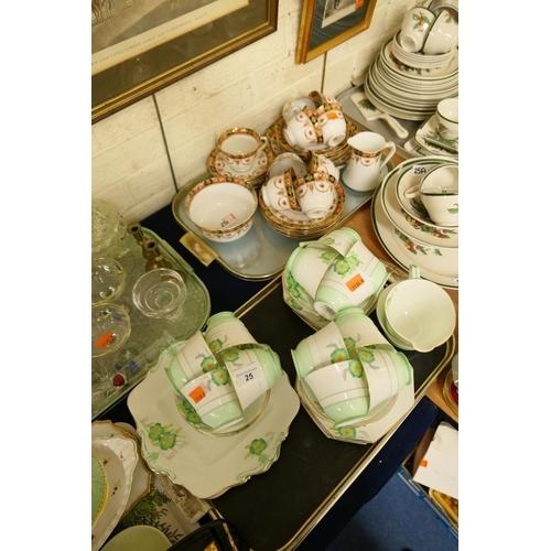 25 - Paragon china tea service and a Royal Albert tea service (2 trays)...