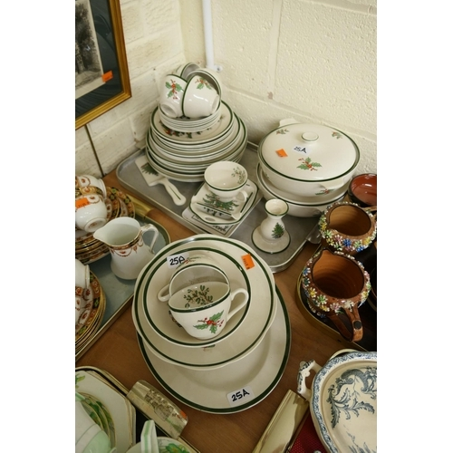25A - Original Christmas Tree dinner service by Cuthbertson...