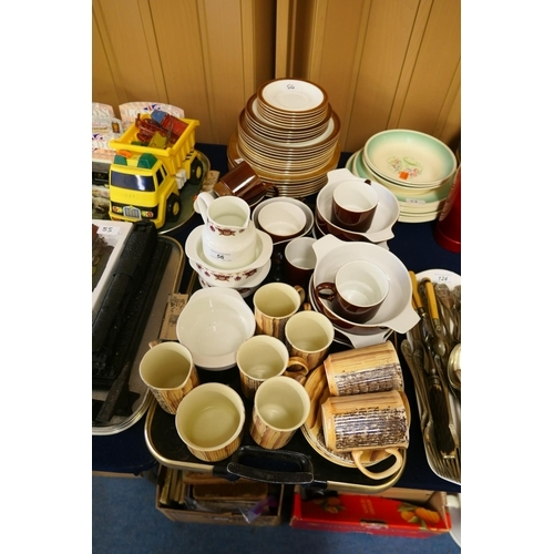 56 - Poole breakfast and dinner wares; also Wedgwood and Price Kensington...