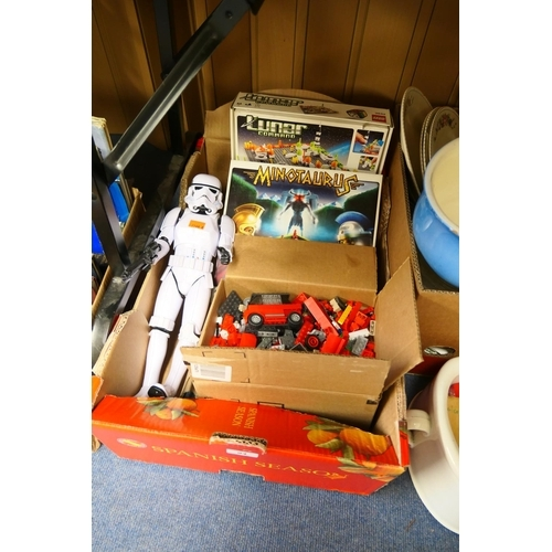 94 - Children's toys including Lego and Star Wars Storm Trooper model...