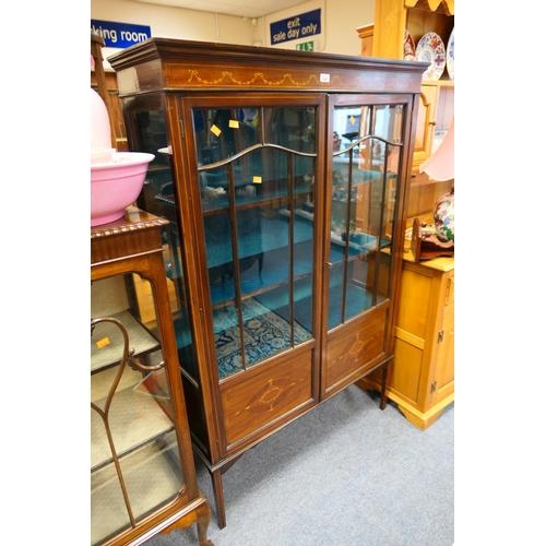 595 - Edwardian mahogany display cabinet...