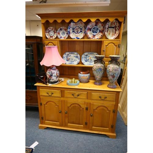 596 - Modern light oak cottage dresser...