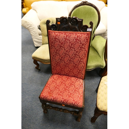 631 - 18th Century and later joined oak chair...