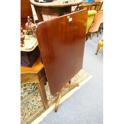 639 - Victorian mahogany tilt top pedestal tripod table...