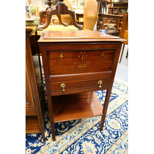 655 - Arts & Crafts secessionist style mahogany sewing cabinet...