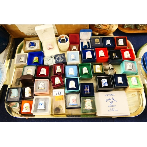 112 - Collection of thimbles, many boxed...