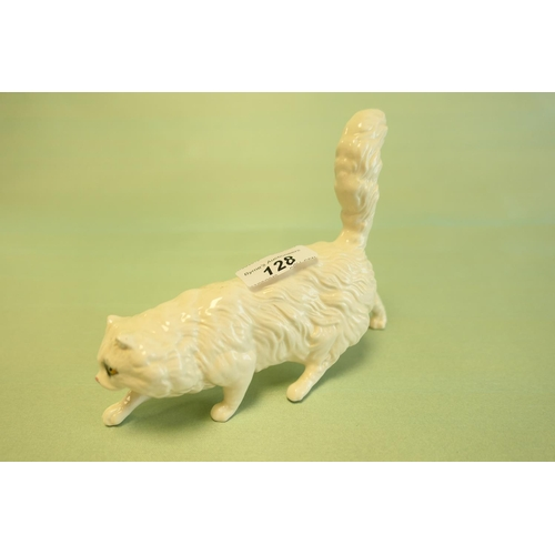 128 - Beswick china model of a prowling cat...
