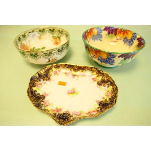 137 - Two Royal Doulton bowls and Royal Doulton china dish (3)...