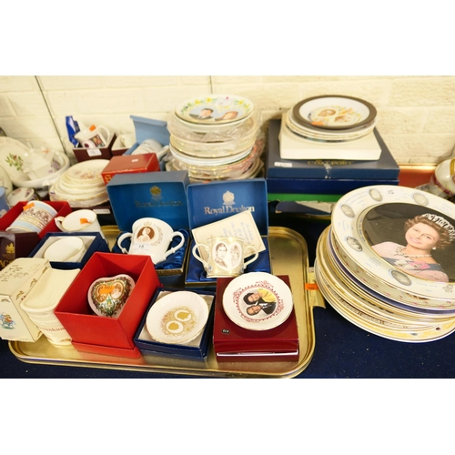 15 - Large collection of Royal commemorative plates, tankards and assorted further china...