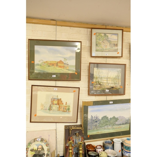 18 - H. Holroyd collection of five framed watercolour landscapes...