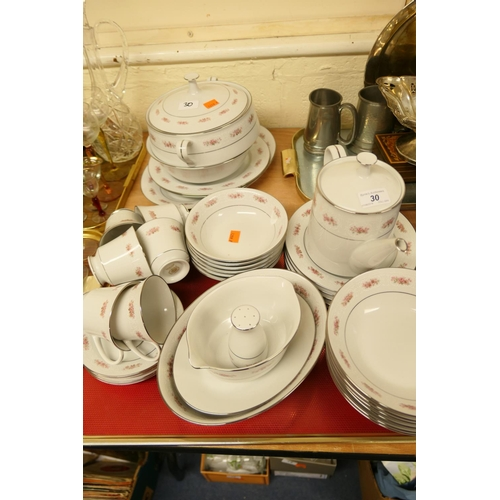 30 - R C porcelain dinner and tea wares...