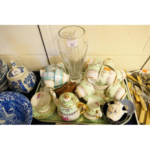 52 - Royal Albert Enchantment pattern teacups, saucers and side plates; also further tea wares, decorativ...
