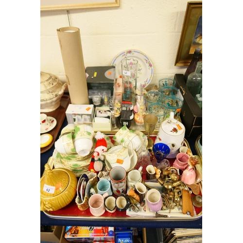 62 - Kitsch lemonade set, collection of salt and pepper pots including Disney, McIntosh style Guinness an...