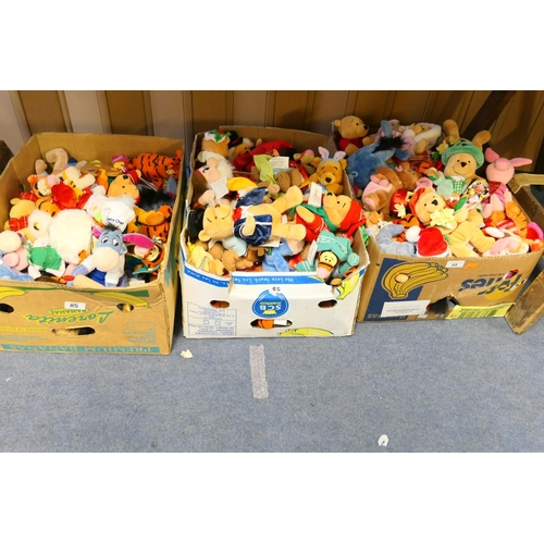 85 - Large collection of Disney soft toy collectables (3 boxes)...