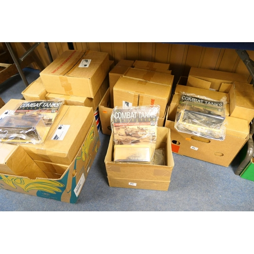 86 - Large collection of combat tanks and magazines including models (5 boxes)...