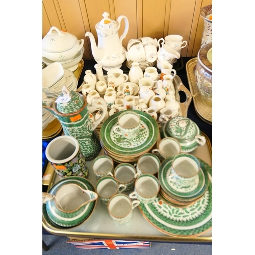 47 - Gainsborough china part coffee service, assorted crested wares and Chinese coffee service; also Chin...