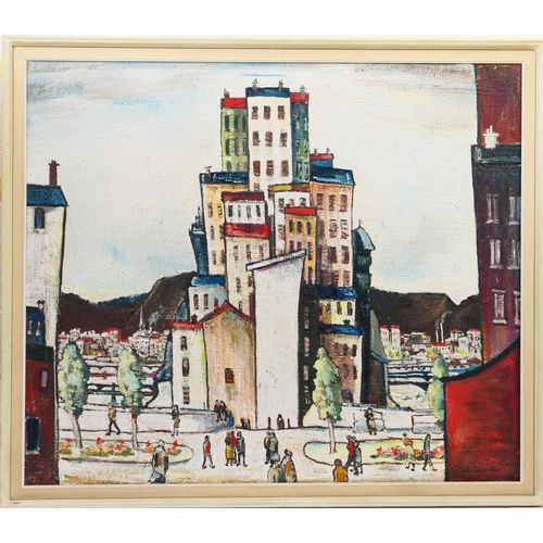 346 - William Ralph Turner (1920-2013), Lyons, oil on canvas, signed and dated 1973, titled to a gallery l...