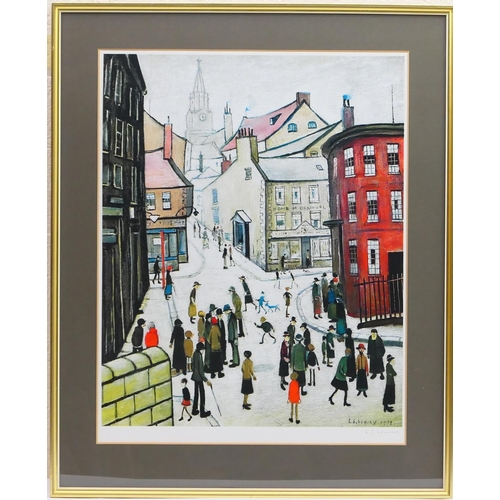 377 - Laurence Stephen Lowry (1887-1976), Berwick upon Tweed, published 1973, offset lithograph in colours...