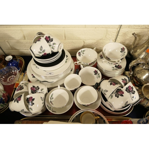 15 - Royal Albert Masquerade pattern china tea service...