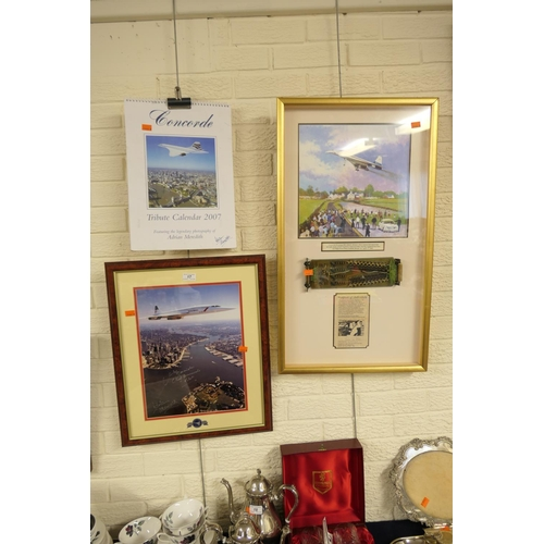 17 - Concorde memorabilia including Adrian Meredith (photographer) 2003 tribute, signed by Mike Bannister...