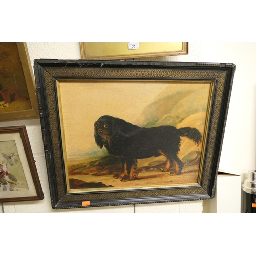 34A - Framed print of a spaniel...