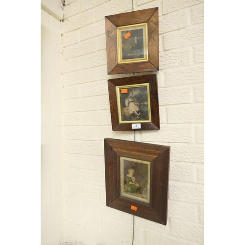 4 - Two Victorian rosewood framed engravings and a Victorian oak framed 'Bubbles' print (3)...