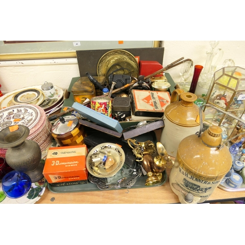 47 - Assorted collectables including commemorative City of Chester George VI Coronation tin, various boxe...