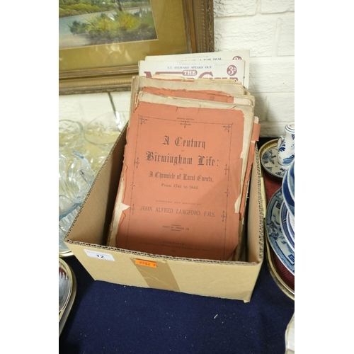 12 - A Century of Birmingham Life, Chronicles of local events, other ephemera including Davenport's Demon...