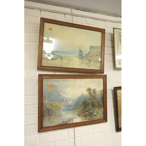 10 - Warren Blackham, 'Cattle watering at a river's edge', signed watercolour; also another watercolour b...