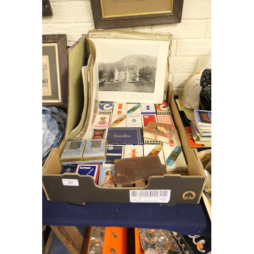 20 - Collection of vintage playing cards and an art album...