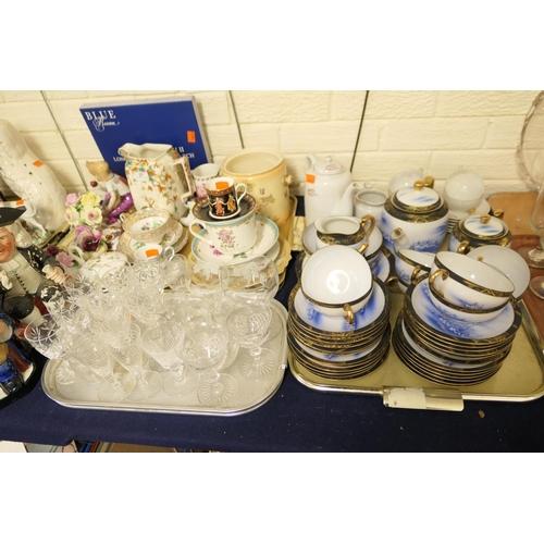 27 - Finely decorated Japanese eggshell china tea service, further Japanese eggshell coffee service with ...