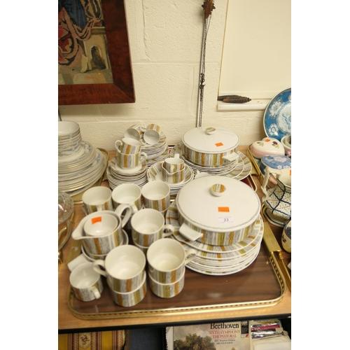 33 - Midwinter Sienna pattern dinner service (2 trays)...