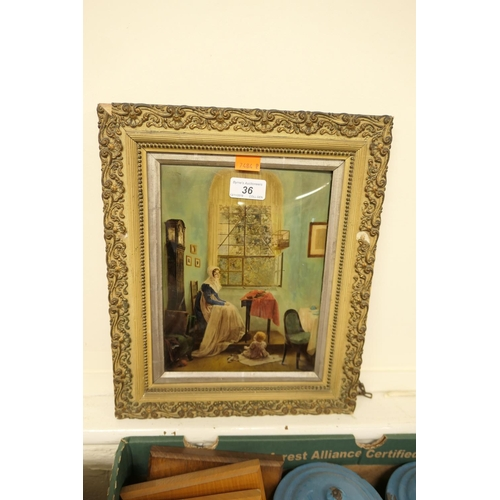 36 - Victorian crystoleum...