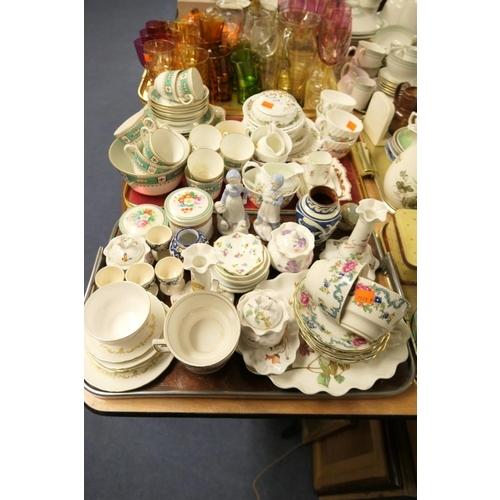 108 - Victorian china tea wares, Aynsley china, other decorative ceramics (2 trays)...