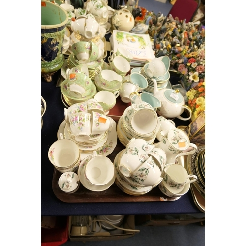 129 - Susie Cooper china tea service, other china tea wares including Royal Albert Moss Rose and Crown Sta...