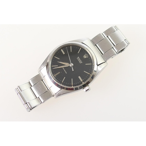 297 - Rolex Oyster gent's stainless steel Precision wristwatch, signed 29mm black dial with baton numerals...