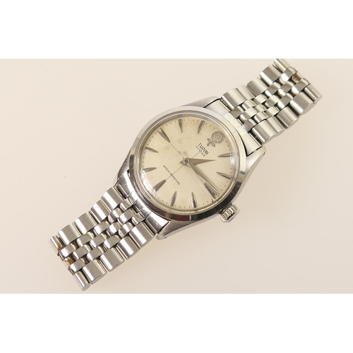 298 - Tudor (Rolex) Oyster gent's stainless steel wristwatch, circa 1978, signed 28mm matte silvered dial ...