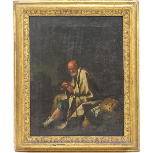 551 - Italian School (late 17th/early 18th Century), Povero, oil on canvas, 45cm x 35cm...