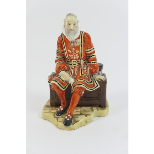 1 - Royal Doulton china figure 'A Yeoman of the Guard', HN688, designed by L Harradine, issued 1924-38, ...